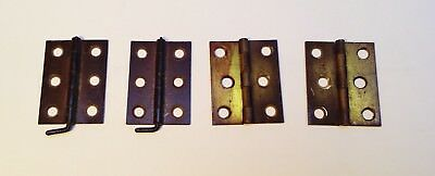 1885 Wilcox & White Pump Organ  Lid and Back Hinge sets 4 total hinges iron