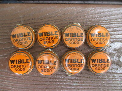 Lot of 17 Wible Bottle Caps w/cork Three Springs PA Orange Cream Soda Birch Beer