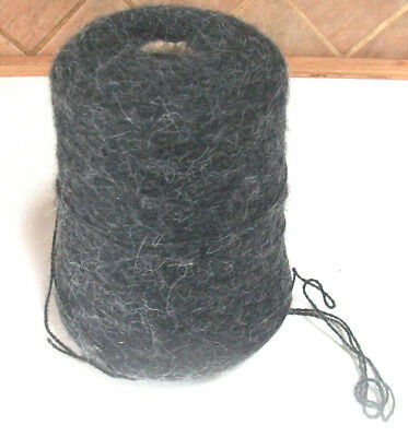 350 grams angora look knits as 4 ply 48 black cone yarn made in uk