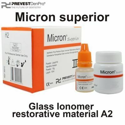 Micron Permanent Tooth White Filling Cement diy Mega Kit Self Cure Glass Ionomer