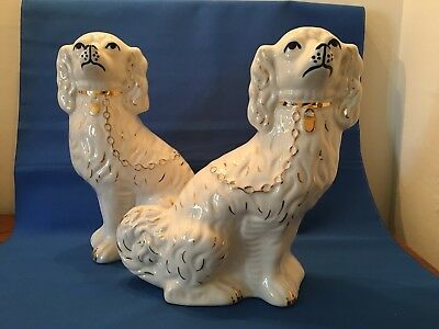 Modern pair of Staffordshire Mantel Fireside Dogs