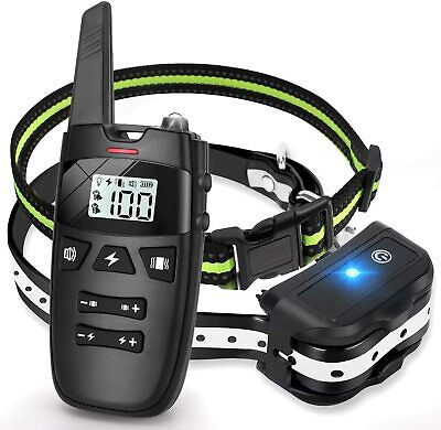 Electric Dog Collar Shock Waterproof Rechargeable Petrainer Remote Bark Training