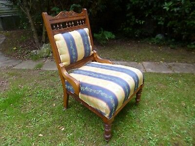 ** Antique Nursing Bedroom Chair **