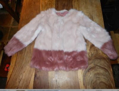 Next Girls  Warm Winter Party Faux Fur  Coat Jacket age 10 Years,mint used cond