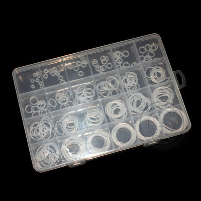 240pcs New Silicone Translucent O-Ring Assortment Kit ( Line diameter:1.5mm)