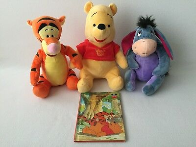 Kohls Cares Disney Winnie The Pooh Tigger Eeyore Stuffed Animal Plush & Book Set