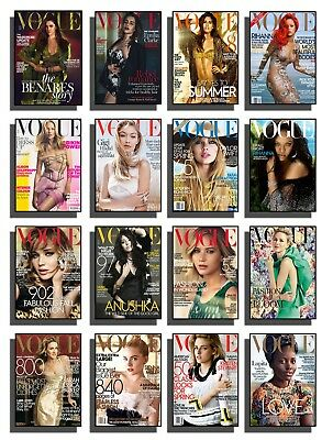 Vogue Magazine Cover Print Poster Wall Art A3 Paris Decor Boutique Salon Fashion