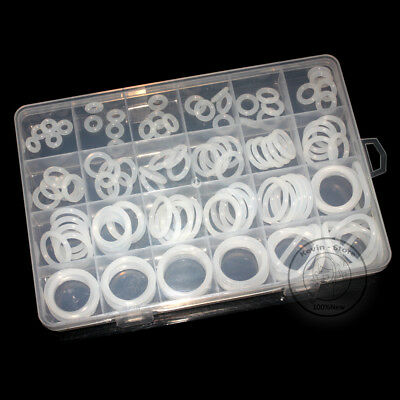 120pcs New Silicone Translucent O-Ring Assortment Kit ( Line diameter:3.0mm)