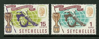 Seychelles  1966  Scott # 226-227  Mint Never Hinged Set