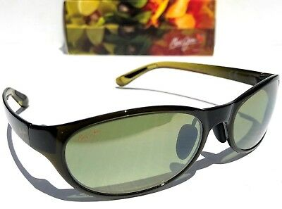 b9376fc8a9d NEW* Maui Jim PIPIWAI TRAIL POLARIZED Black Green Fade Womens Sunglass  HT416-15F