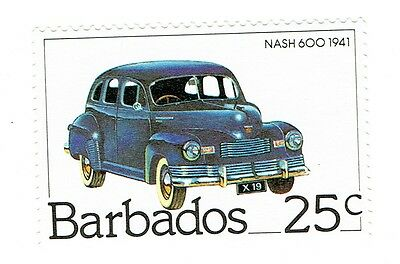 1983 Barbados - Nash 600, Classic Cars - 25 C Stamp