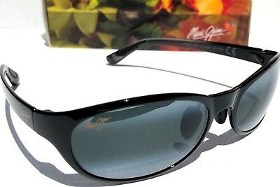 fd386cee06d NEW* Maui Jim PIPIWAI TRAIL POLARIZED Black Fade Grey Womens Sunglass 416-02