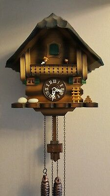 vintage black forest wooden cuckoo clock