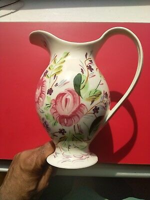 Vtg Blue Ridge Pitcher◾Rebecca Form In Whig Rose Pattern◾Southern Potteries Usa