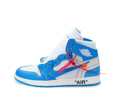 "091d31dd0be63e NIKE X OFF-WHITE RED ZIP TAG and ""SHOELACES"" UNC BLUE for sneakers ..."