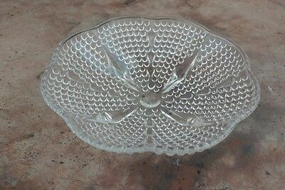 Vintage Hobnail Clear Glass Candy Dish