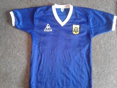 e1f63e29c8a Argentina Maradona 1986 World Cup Away Football Shirt Jersey  10 Retro  Medium