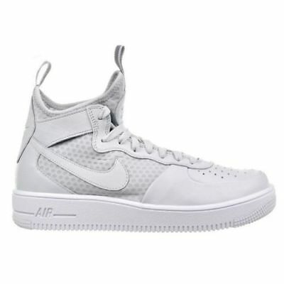 NIKE AIR FORCE 1 Ultraforce Mid Top Men's Shoes Pure Platinum 864014 002