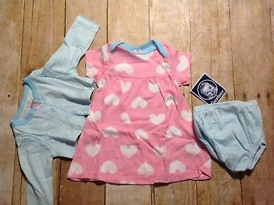 NWT Gerber Pink & Blue Hearts Jacket, Diaper Cover Outfit, Shower Gift + Big Sis