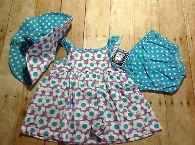 NWT Gerber Baby Dress with Diaper Cover & Sunhat, 3 colors (JJ001-009)