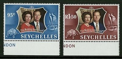 Seychelles  1972  Scott # 309-310  Mint Never Hinged Set