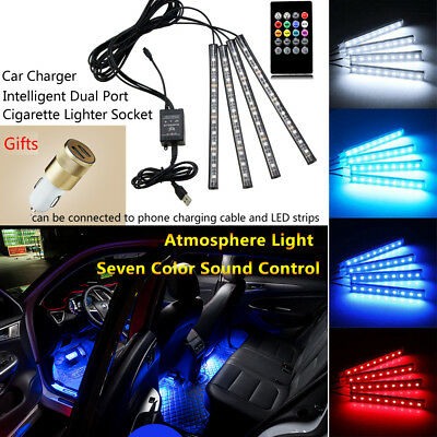 Music LED Multi Color Mitsubishi Car Light Strip Decor Lamp UnderDash Lights Kit