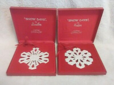 Longaberger Collectors Club SNOW DAYS CHRISTMAS ORNAMENT Lot of 2 New in boxes