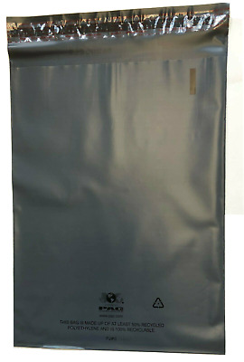 100 Recyclable Poly Bag Mailers  7.5x10.5 Grey Gray Unlined Self Seal Envelope