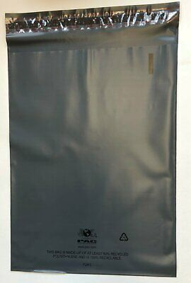 "100 Recyclable Poly Bag Mailers  9"" x 12"" Grey Gray Unlined Self Seal Envelope"