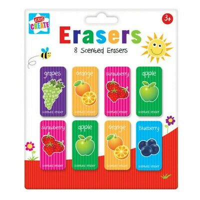 12pcs Kids Novelty Animal Food Puzzle Erasers Rubbers Gift Toy Party Bag Gift