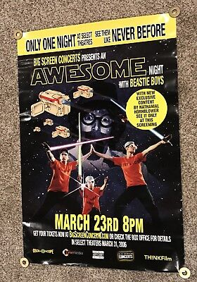 "2006 Beastie Boys Awesome Night Star Wars Style Poster 39.5""x27"" Scarce!"