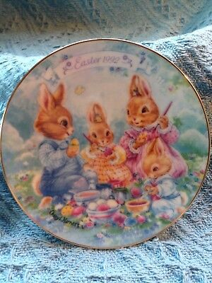 """Nos Avon 1992 Porcelain Easter Plate Collection """"colorful Moments"""""""