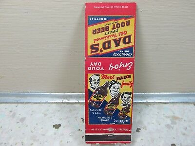 Dads Root Beer Dads Family Vintage Advertising Matchbook Cover