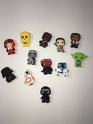 2 Sets Of 12 Star Wars Shoe Charms Cupcake Toppers Party Favors