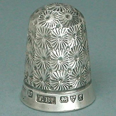Antique English Registered Sterling Silver Thimble * 1911 Hallmarks