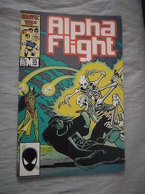 Alpha Flight #35 Talisman Shaman Marvel 1986 VG- cup stain on cover