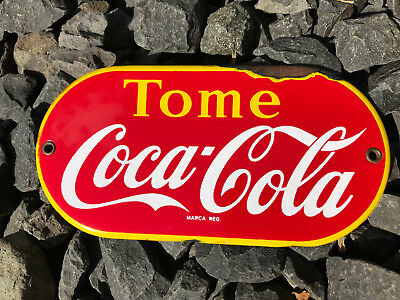 Coca-Cola Enamel/Emaille Push Sign Mexico
