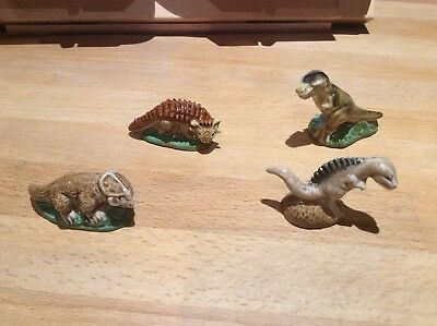 Wade Whimsies  4 Dinosaurs From Set 1 1993 Excellent Cond