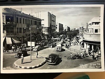 Real Photo - Tel Aviv - Jaffa - Israel, Allenby Street, Magen David Square 1950.