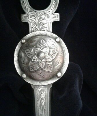 Western Bit Sterling Silver Hand Engraved Las Cruces Cheek Fancy Show Tack