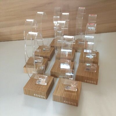 Fossil Watches Watch Display Stands Plastic C Holder Stands Lot Of 10-New!