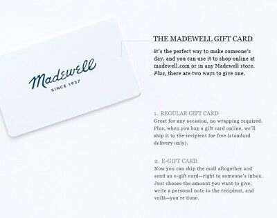 Madewell Gift Card Re