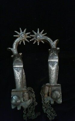 Antique Western California Spurs Silver inlay