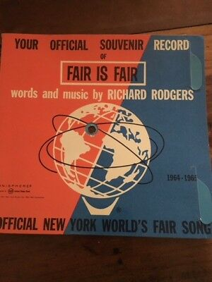 Fair Is Fair Official New York World's Fair Souvenir Record 1964-65