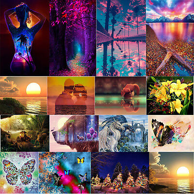5D Full Drill Diamond Painting Embroidery Cross Stitch Kits Home Wall Decor Gift