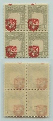 Lithuania 1919 SC 58 mint imperf shifted center block of 4 . d4634