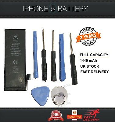 Genuine Replacement gmz Battery for Apple iPhone 5 5G Capacity 1440 mAh Tools