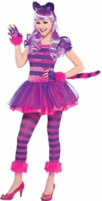 Pink 10-12 years Amscan International - Costume da Stregatto per ragazze, (sdz)