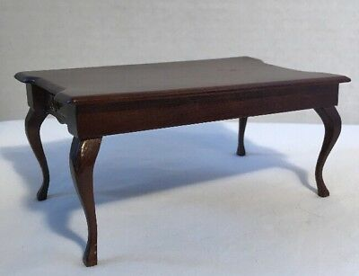 Vintage Dollhouse Miniature Kitchen / Dining Room Table Rectangle in Mahogany