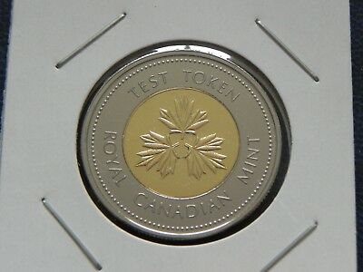 2004 UNC Canadian Canada Test Token Toonie 2 Two Dollar Coin